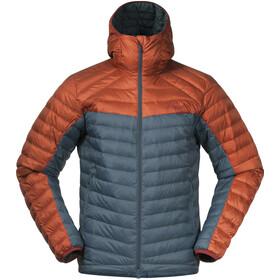 Bergans Røros Down Light Jacket with Hood Men, forest frost/br magma